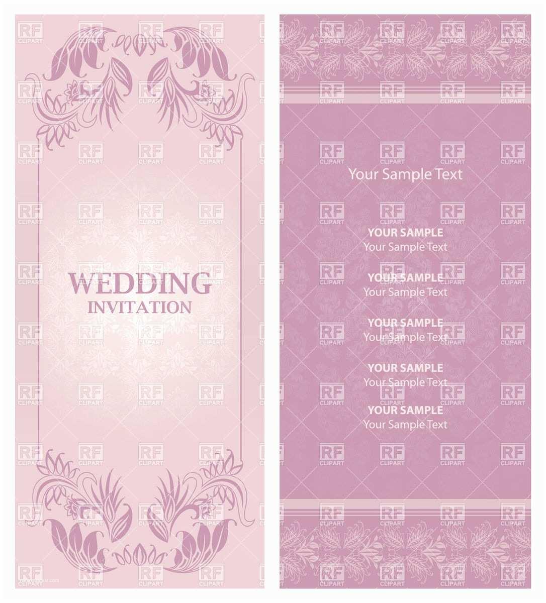Wedding Invitation Free Download Ornate Violet Wedding Invitation Template Vector