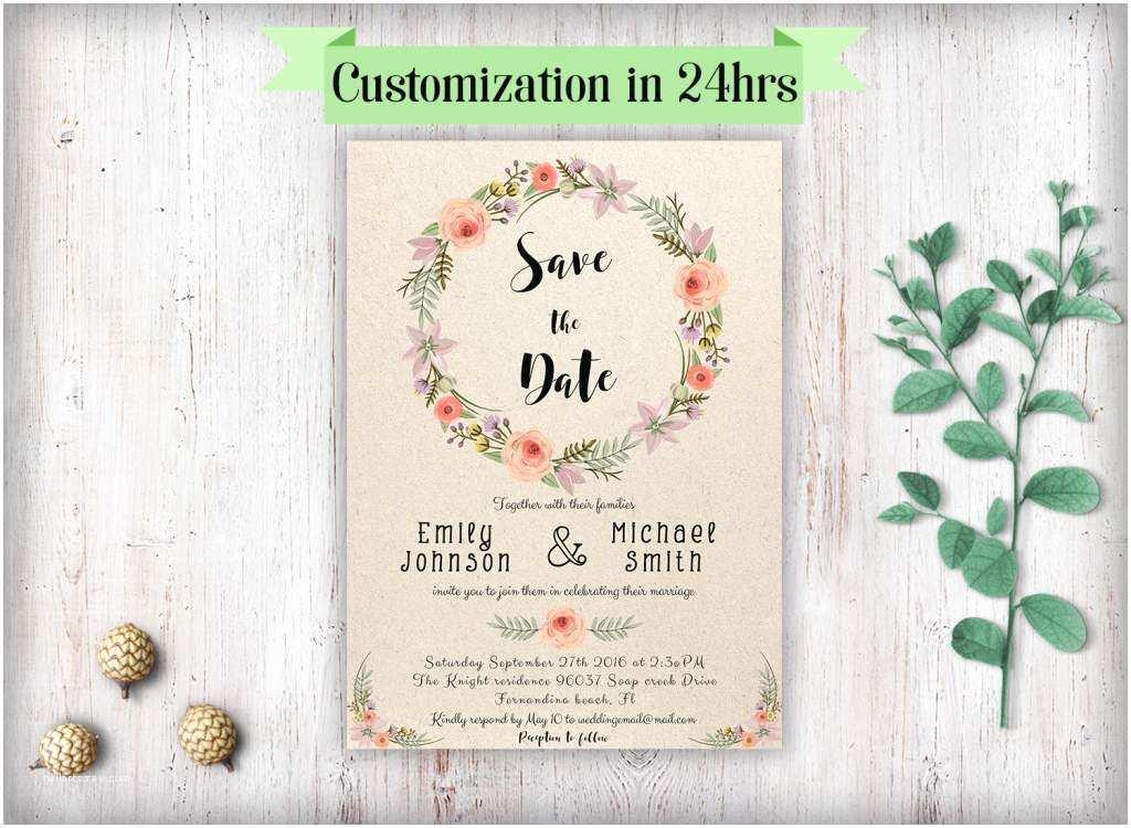 Wedding Invitation Free Download Rustic Wedding Invitation