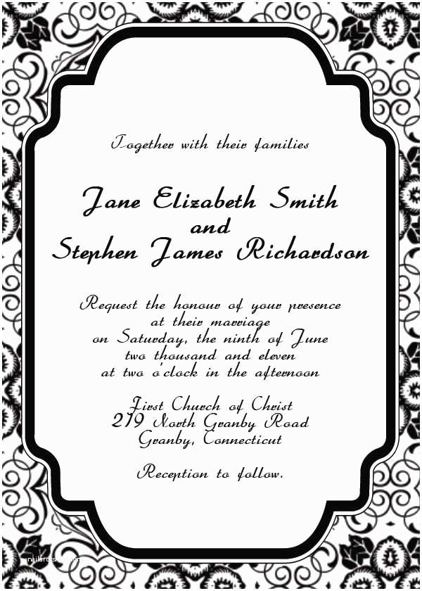 Wedding Invitation Generator Printable Invitation Maker