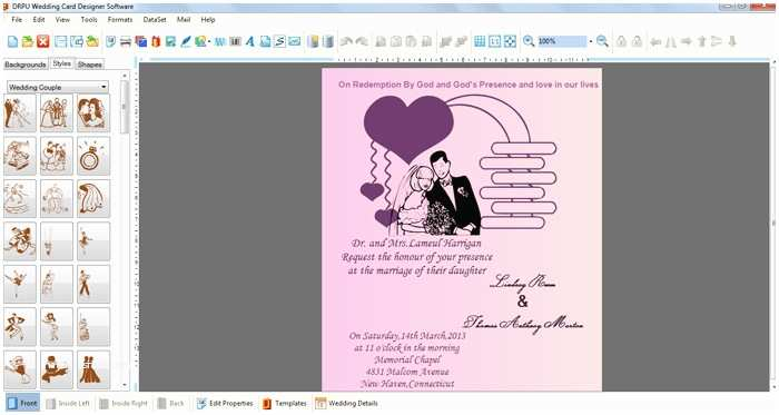 Wedding Invitation Generator Wedding Card Designer software Invitation Card Maker