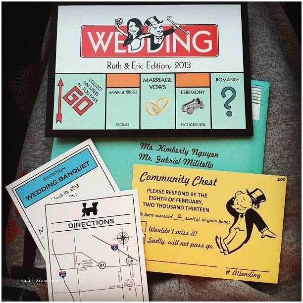 Wedding Invitation Ideas Most Creative Invites I Have Ever Seen Monopoly
