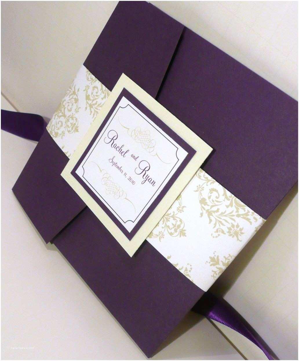 Wedding Invitation Ideas Royalty and Elegant Purple Wedding Invitations