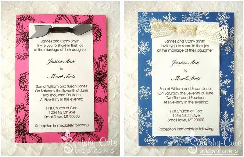 blog post homemade wedding invitation ideas