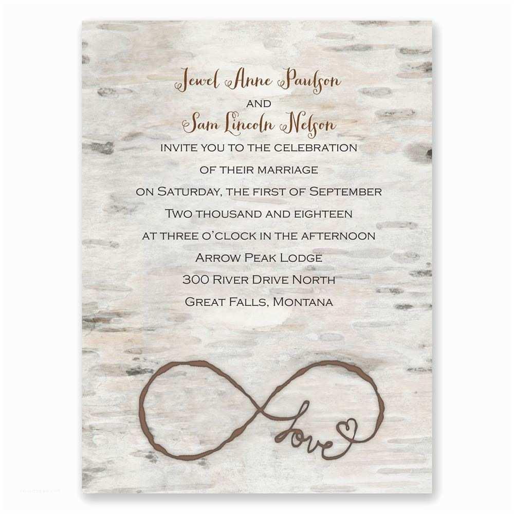 Wedding Invitation Images Love for Infinity Petite Invitation