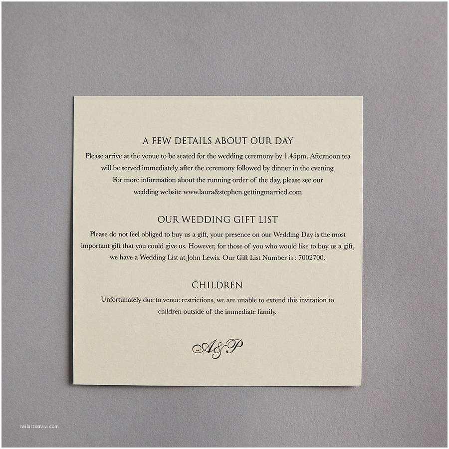 Wedding Invitation Information Card Card Invitation Ideas Wonderful Information Cards for