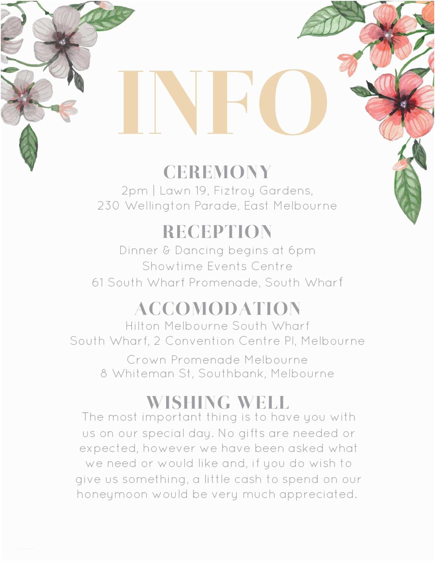 Wedding Invitation Information Card Floral Circle Invitation Set Dp