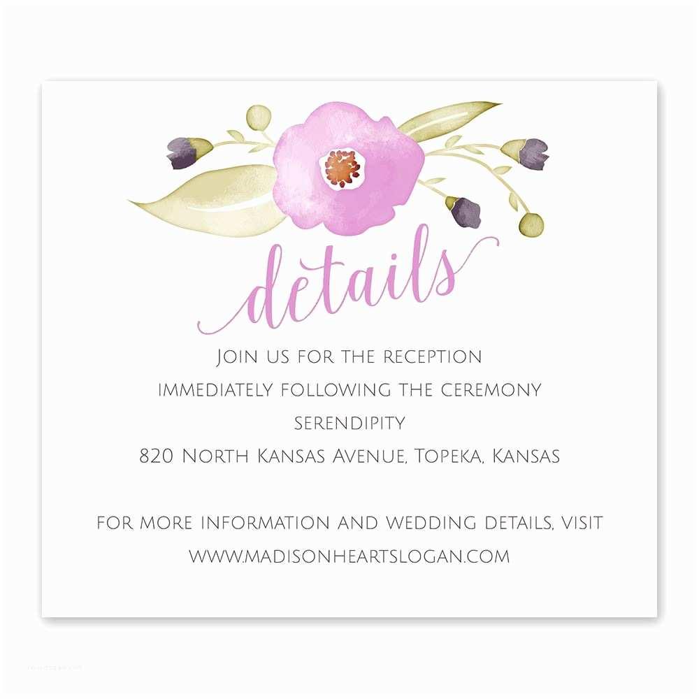 Wedding Invitation Information Card Garden Dream Information Card