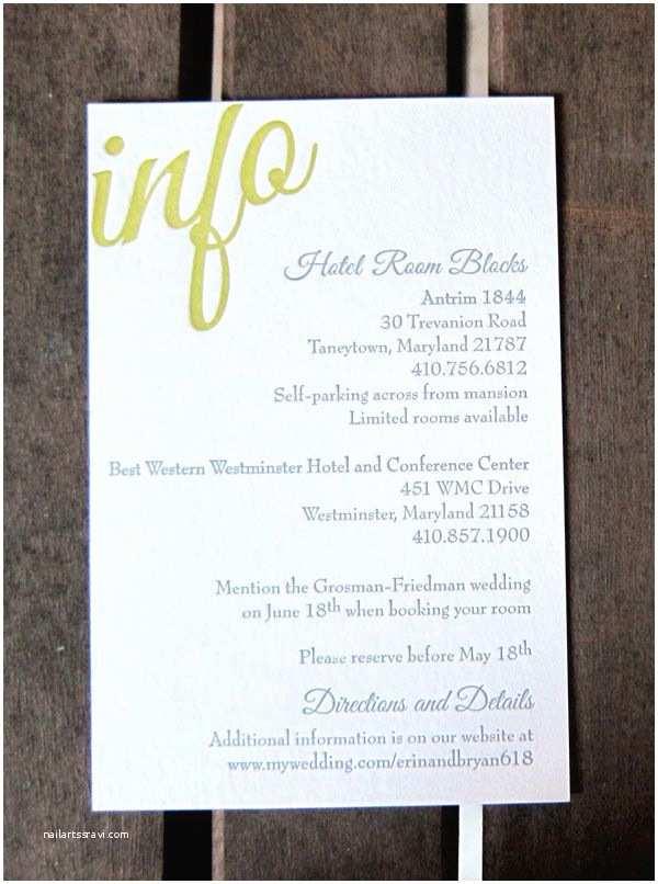 Wedding Invitation Information Card Invitation Information Insert