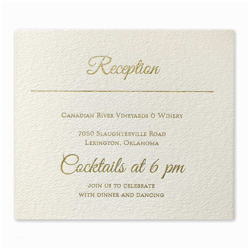 Wedding Invitation Information Card Layers Of Luxury Gold Foil Information Card
