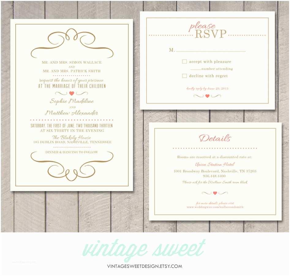 Wedding Invitation Information Card Modern Wedding Invitation Rsvp Information Card Printable