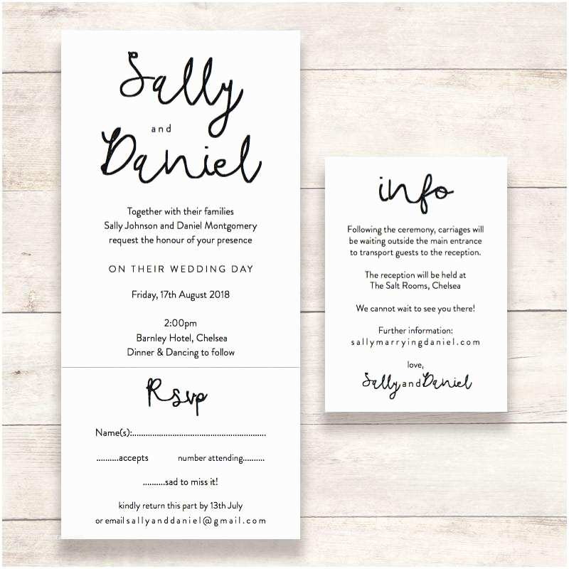 "Wedding Invitation Information Card ""dreams"" Wedding Invitations Connie & Joan"