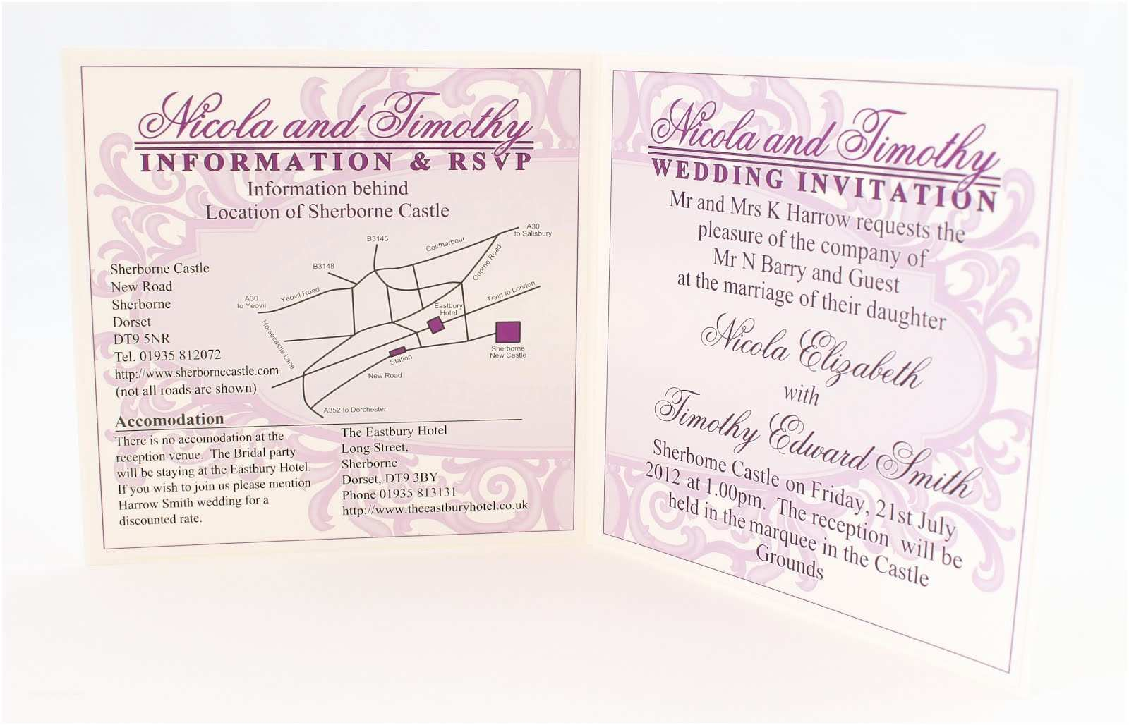 Wedding Invitation Information Card Wedding Invitation Information Card Example Gallery