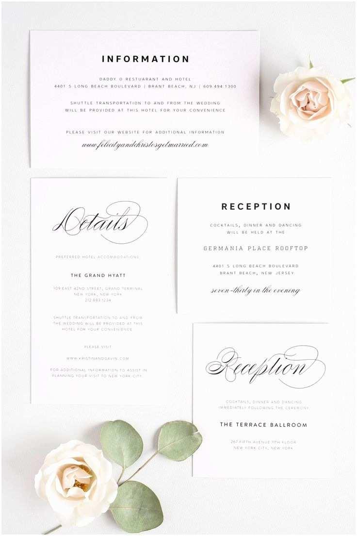 Wedding Invitation Information Card Wedding Invitations Information Various Invitation Card