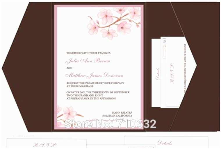 Wedding Invitation Insert Templates 9 Best Of Pocketfold Wedding Invitations