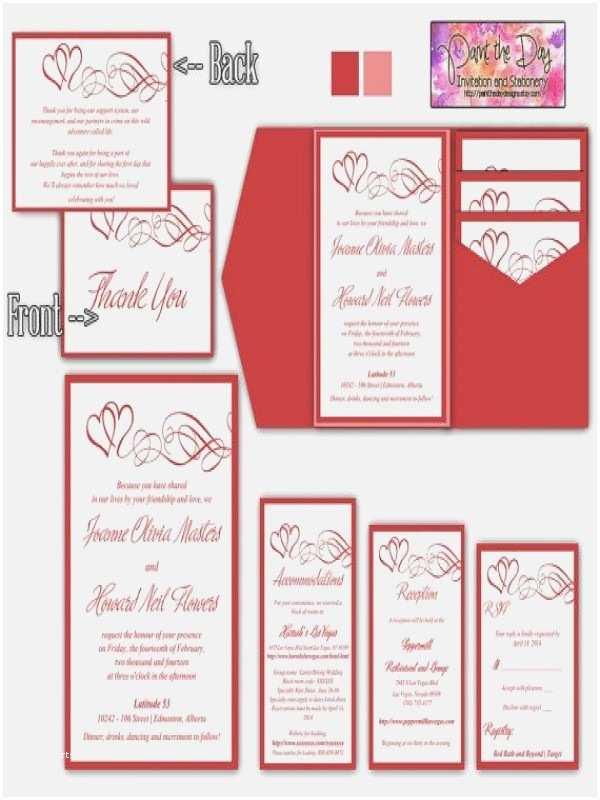 Wedding Invitation Insert Templates Colorful Wedding Invitation Inserts Template