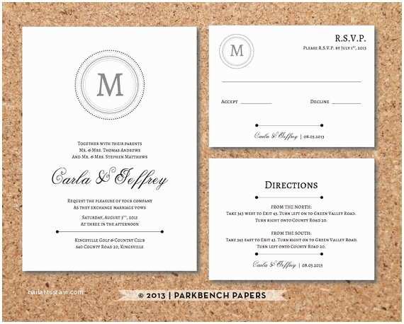 Wedding Invitation Insert Templates Editable Wedding Invitation Rsvp Card And