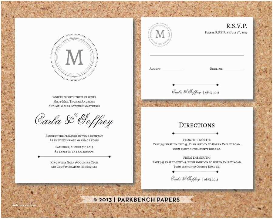 Wedding Invitation Insert Templates Editable Wedding Invitation Rsvp  And Insert