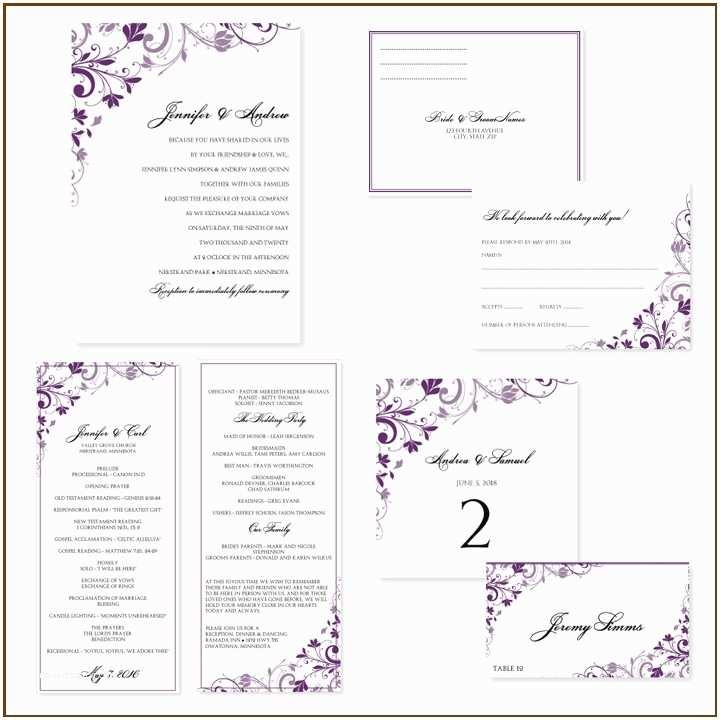 Wedding Invitation Insert Templates Free Printable Wedding Invitation Templates for Word