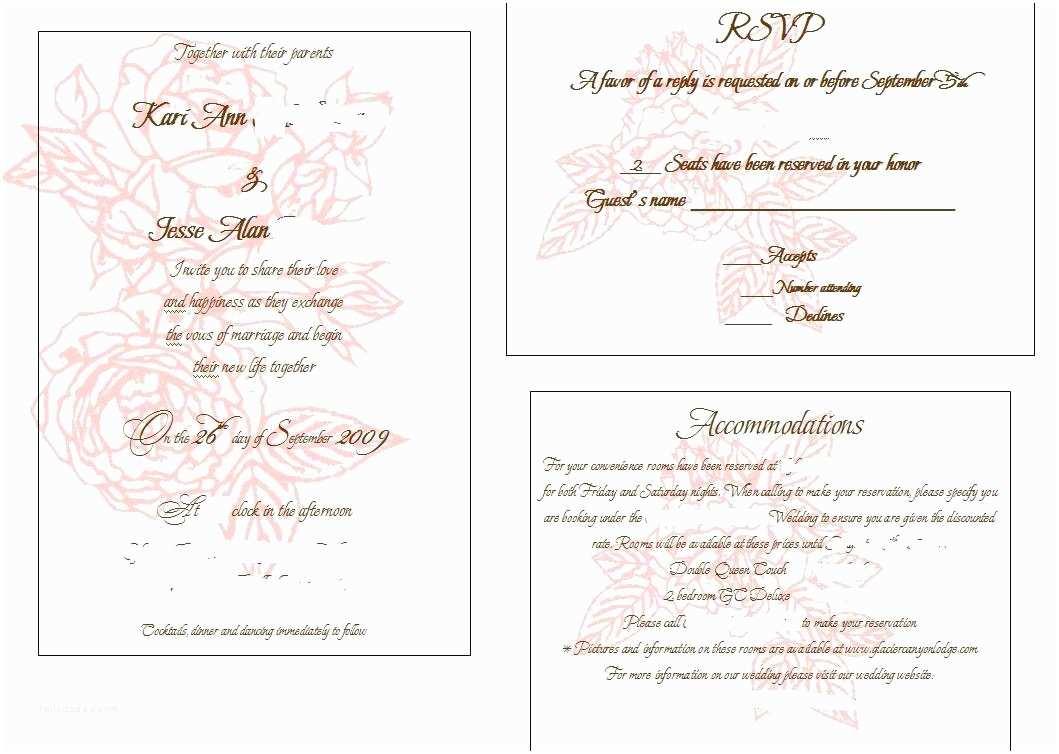 Wedding Invitation Insert Templates Gift Registry Insert Template Gift Ftempo
