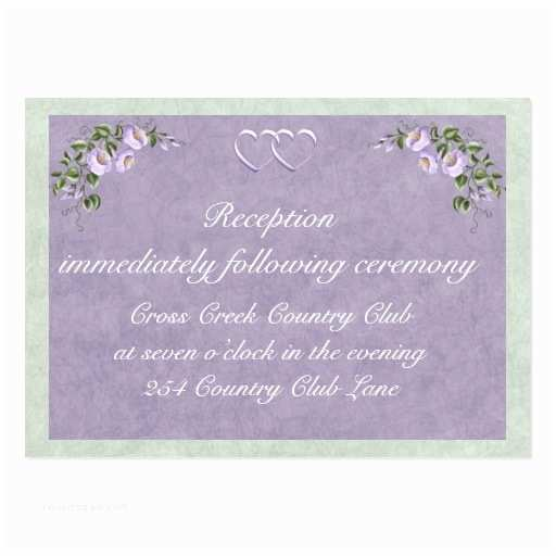 periwinkle wedding invitation reception insert business card