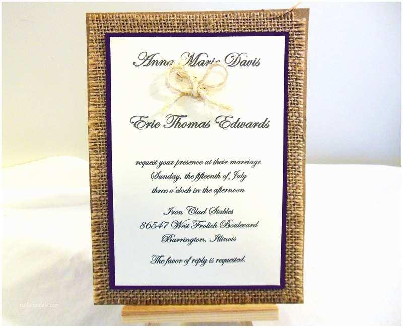 Wedding Invitation Kits Diy Rustic Burlap Wedding Invitation Kit Custom Wedding