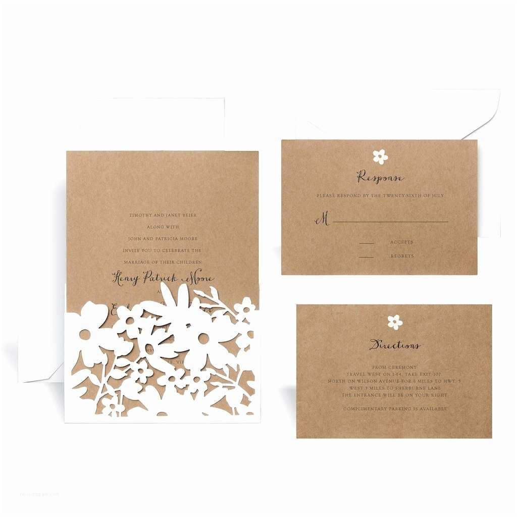Wedding Invitation Kits Find the Laser Cut Wrap In Floral Wedding Invitation Kit