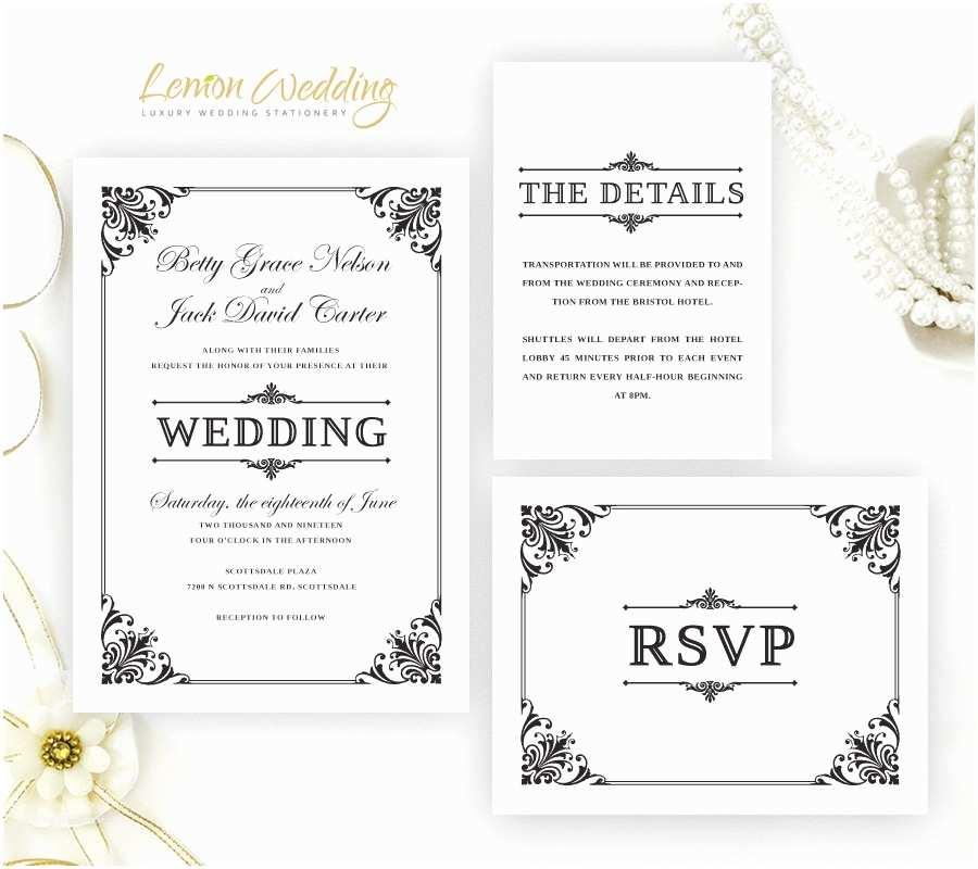Wedding Invitation Kits formal Wedding Invitation Kits Printed On Shimmer Cardstock