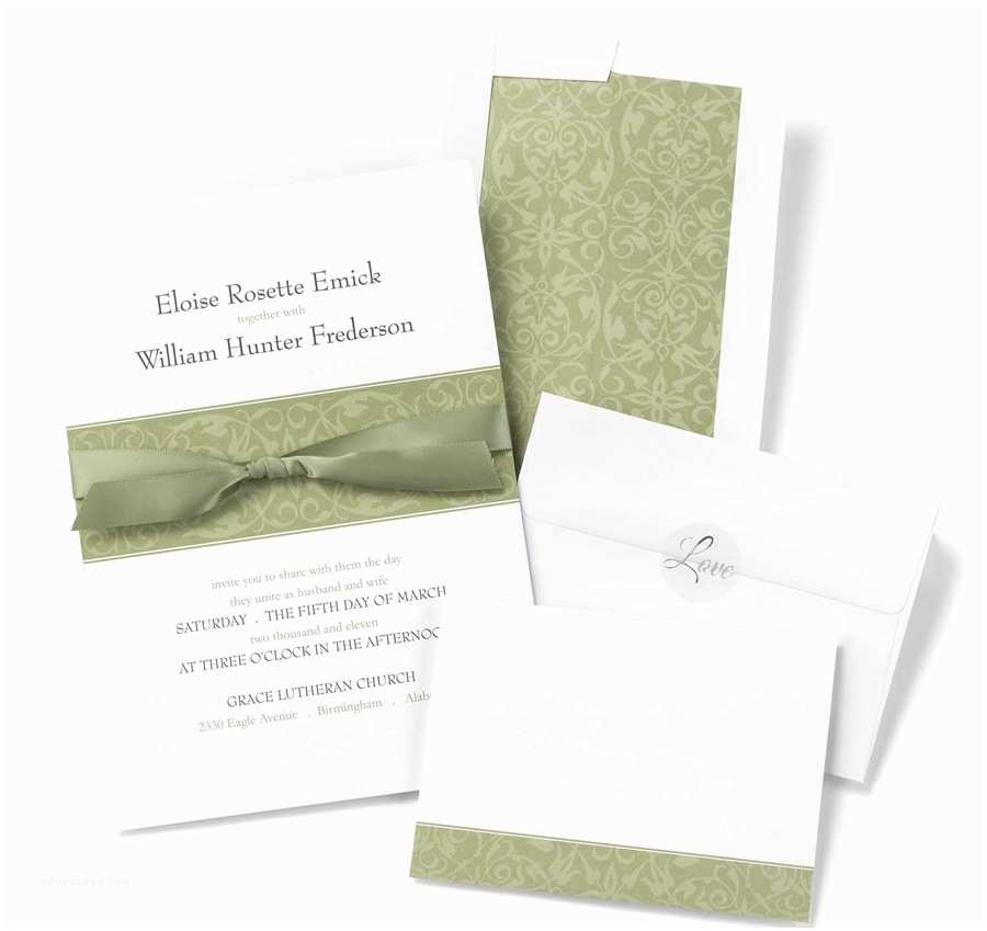 Wedding Invitation Kits Olive Band Diy Wedding Invitation Kits
