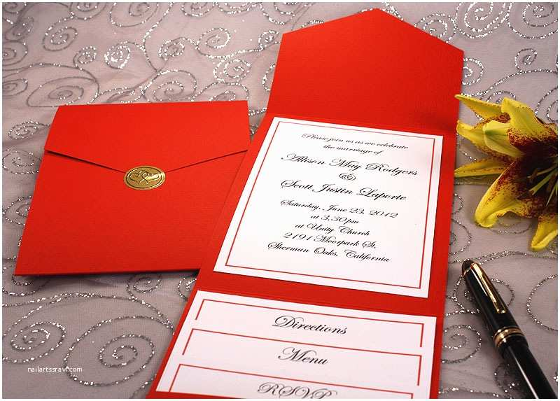 Wedding Invitation Kits Pocket Wedding Invitations