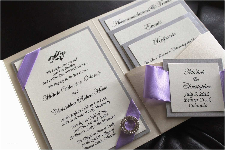 Wedding Invitation Kits Simple and Stylish Design Of Pocket Wedding Invitations