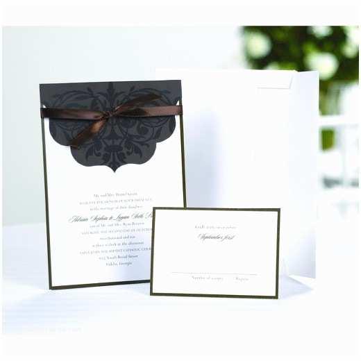 Wedding Invitation Kits Target Scalloped top Wrap themed Wedding Invitations 25 Count