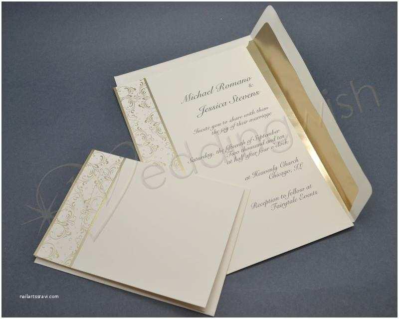 Wedding Invitation Kits Wedding Wilton Royal Lining Gold Wedding Invitation Kits X