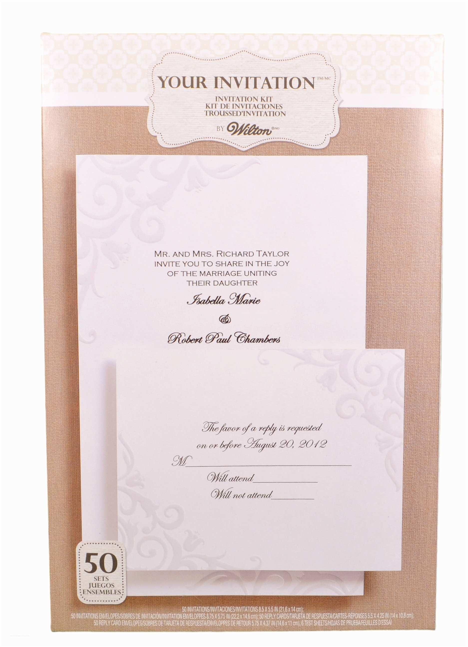Wedding Invitation Kits Wilton Wedding Invitation Kit Lily Of the Valley Pearl 50