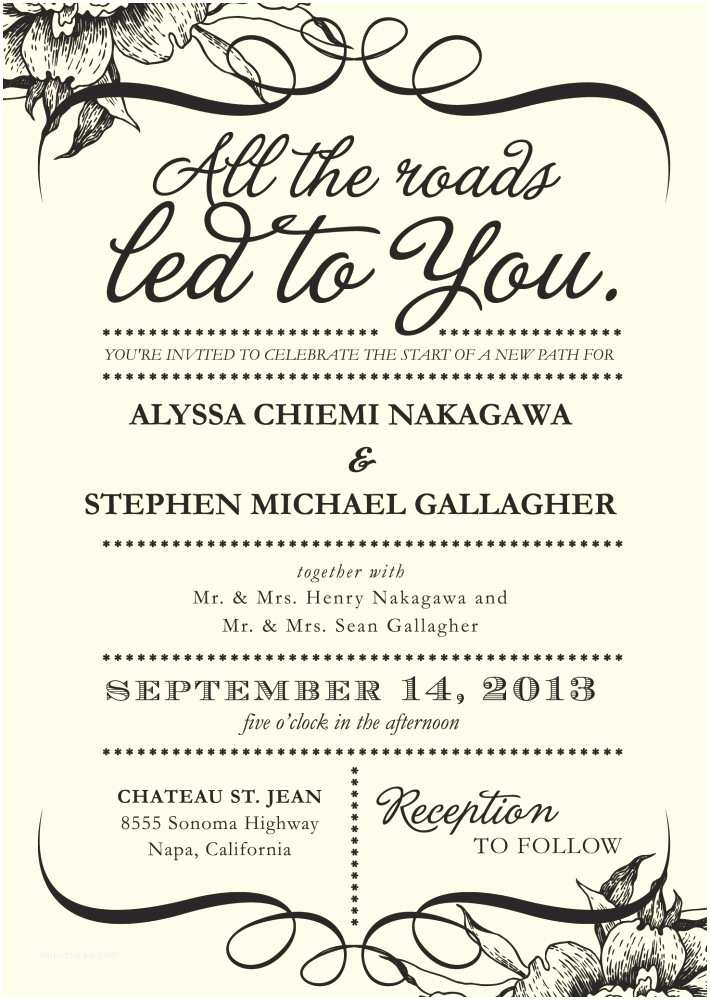 Wedding Invitation Language 4 Words that Could Simplify Your Wedding Invitations