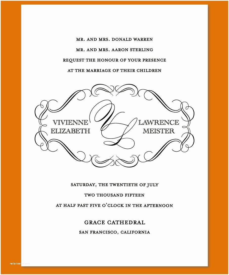 Wedding Invitation Language Invitation Wedding Text Sample Image Collections
