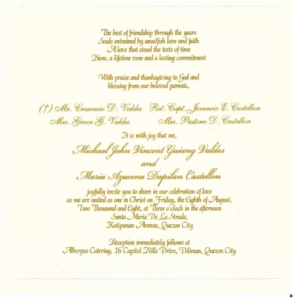 Wedding Invitation Language Traditional Wedding Invitation Templates