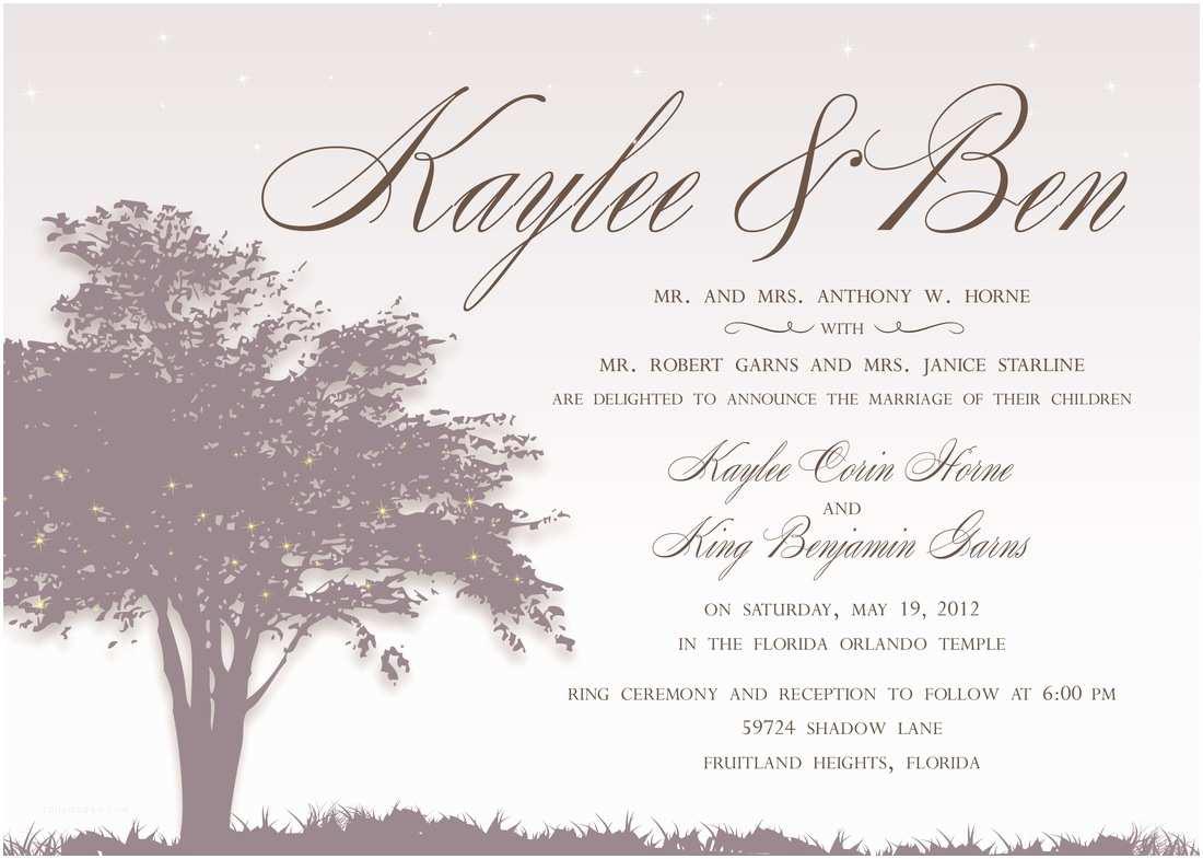 Wedding Invitation Language Wonderful Wedding Invitation Wording From Bride and Groom