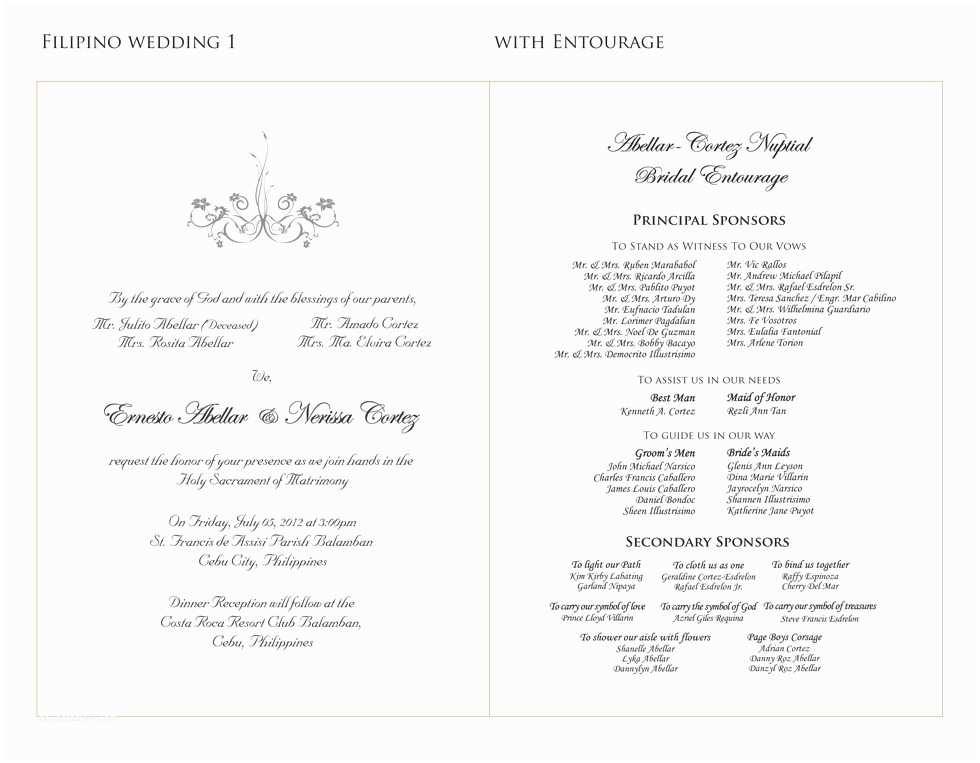 Wedding Invitation List Wedding Invitation Sample Entourage List Gallery