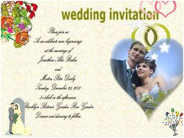 Wedding Invitation Maker with Photo Beautiful Wedding Invitation Card with