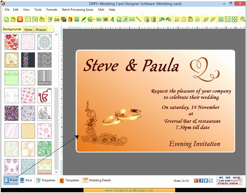 Wedding Invitation Maker with Photo Wedding Invitation Wording Wedding Invitation Maker software