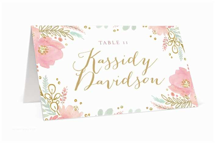 Wedding Invitation Minibook Floral Vignette Wedding Place Cards by Kristen Smith