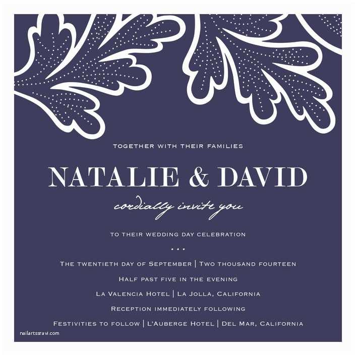 Wedding Invitation Minibook Indigo evening Print It Yourself Wedding Invitations by