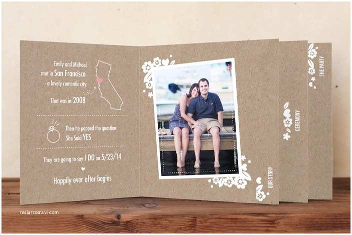 Wedding Invitation Minibook Mini Book Wedding Invitation