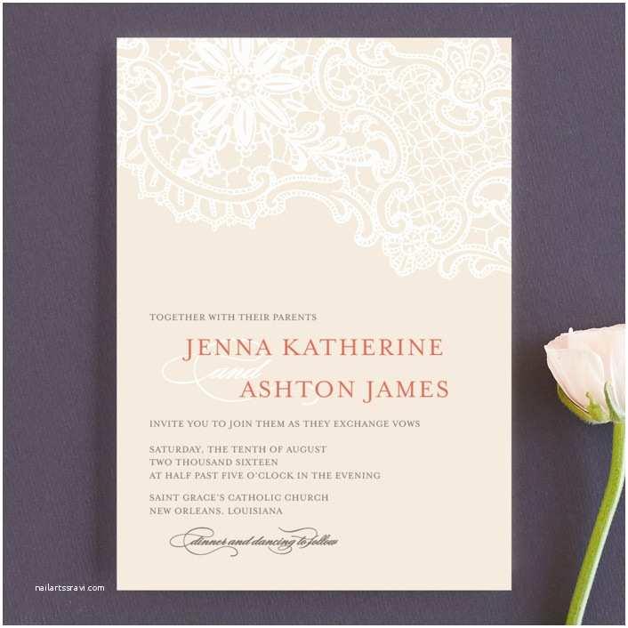 Wedding Invitation Minibook White Lace Wedding Invitations by Lauren Chism