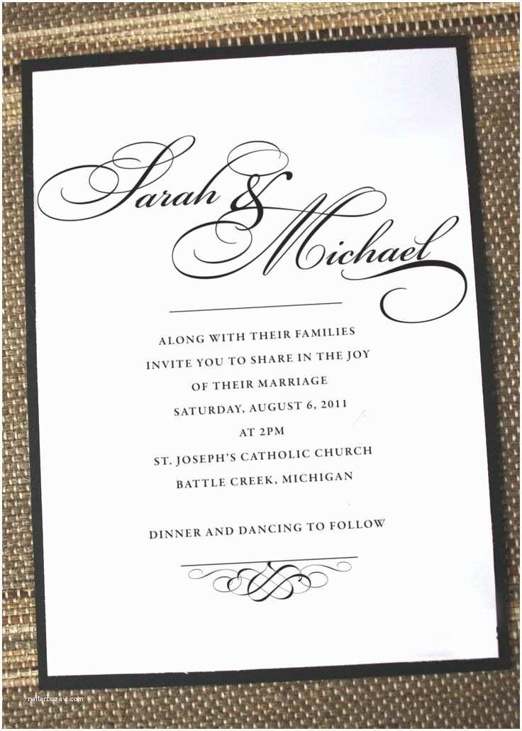 Wedding Invitation Msg 25 Best Ideas About Wedding Invitation Wording On