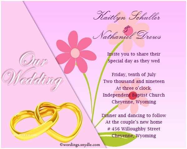 Wedding Invitation Msg Informal Wedding Invitation Wording Samples Wordings and