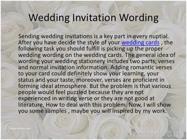 Wedding Invitation Msg Wedding Invitation Wording