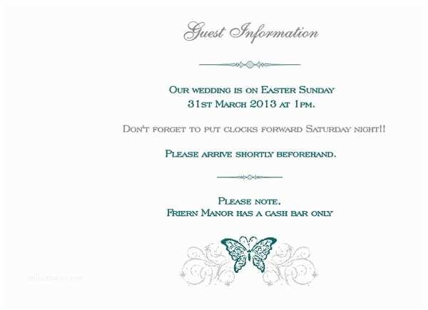 Wedding Invitation No Kids Brambles Wedding Stationery Booklet Pages