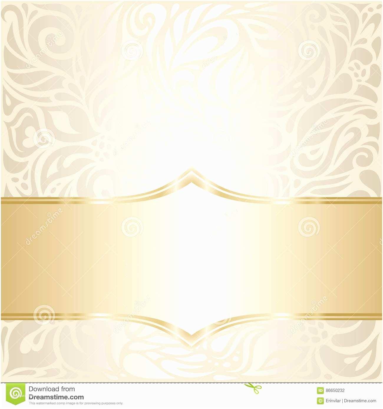 Wedding Invitation No Kids Floral Wedding Invitation Wallpaper Design In Ecru Stock