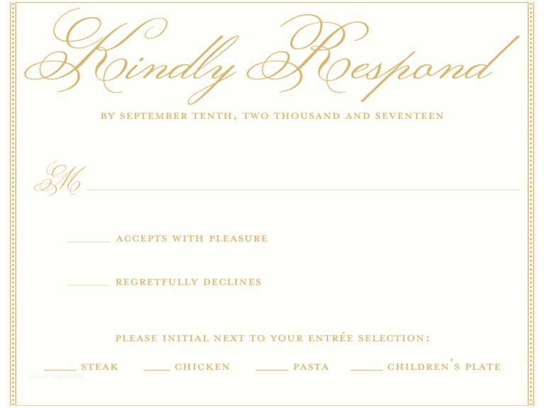 Wedding Invitation No Kids Invitation Rsvp Meaning Invitation Sample